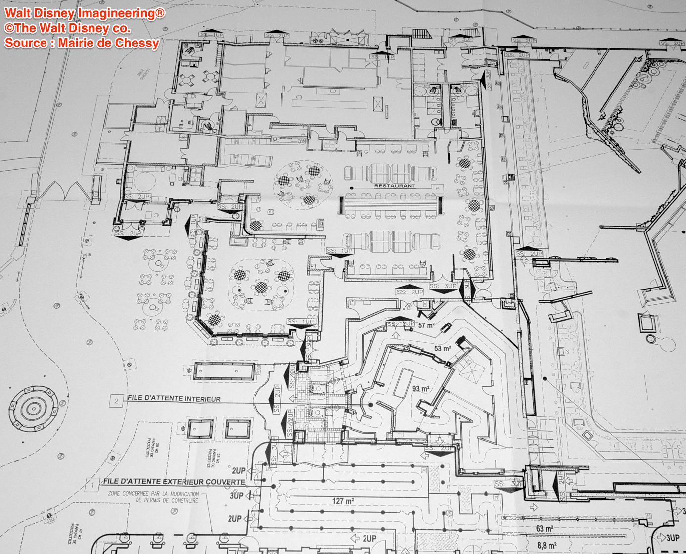 Disneyland paris los planos al detalle de la gran for Plano restaurante