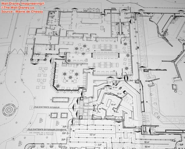 """Plano del restaurante de servicio a la carta """"La Ratatouille"""""""