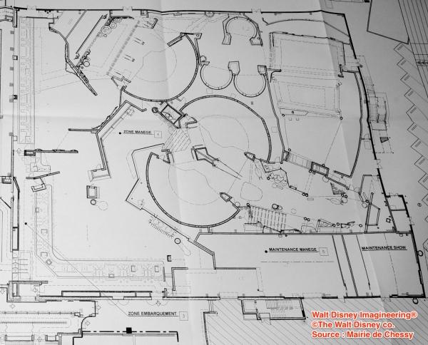 Plano de la atracción basada en Ratatouille
