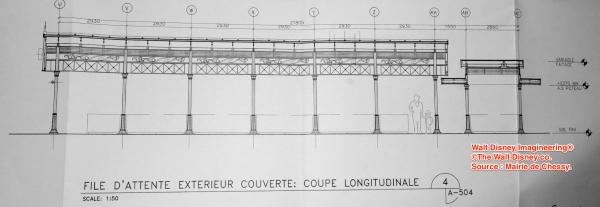 Detalle de la cubierta de la fila exterior