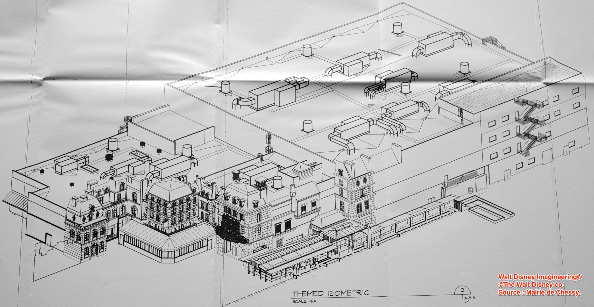 Disneyland paris los planos al detalle de la gran for Planos para restaurantes