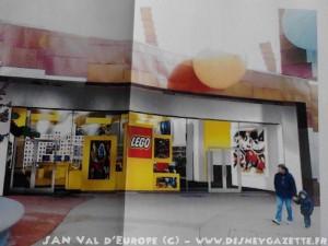 Diseño de la futura tienda. Fuente: Disney Gazette