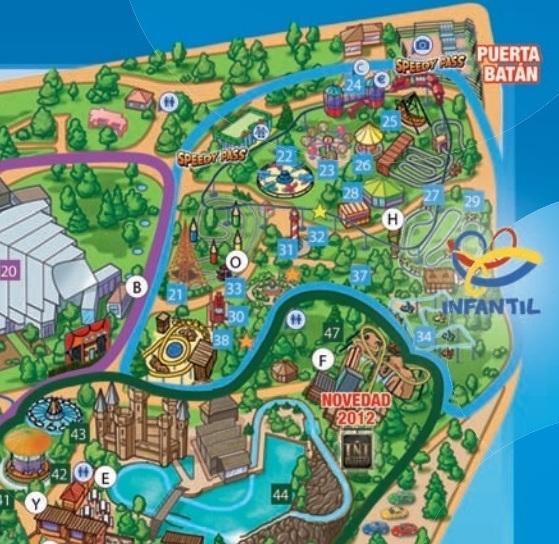 Zona Infantil del parque de Atracciones de Madrid