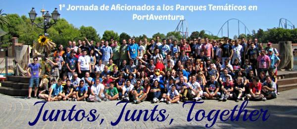 Foto de grupo en PortAventura