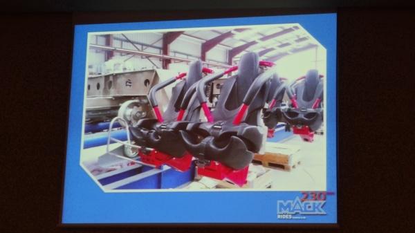 Wing Coaster de B&M con arneses que se ajustan a la fisonomía humana