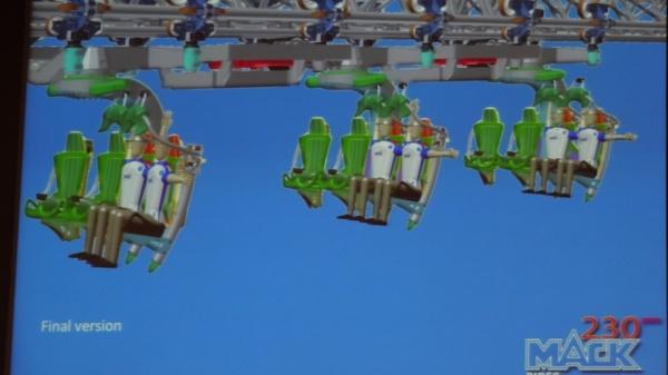 Versión final con opciones de movimiento para Arthur the Ride, novedad 2014 de Europa Park