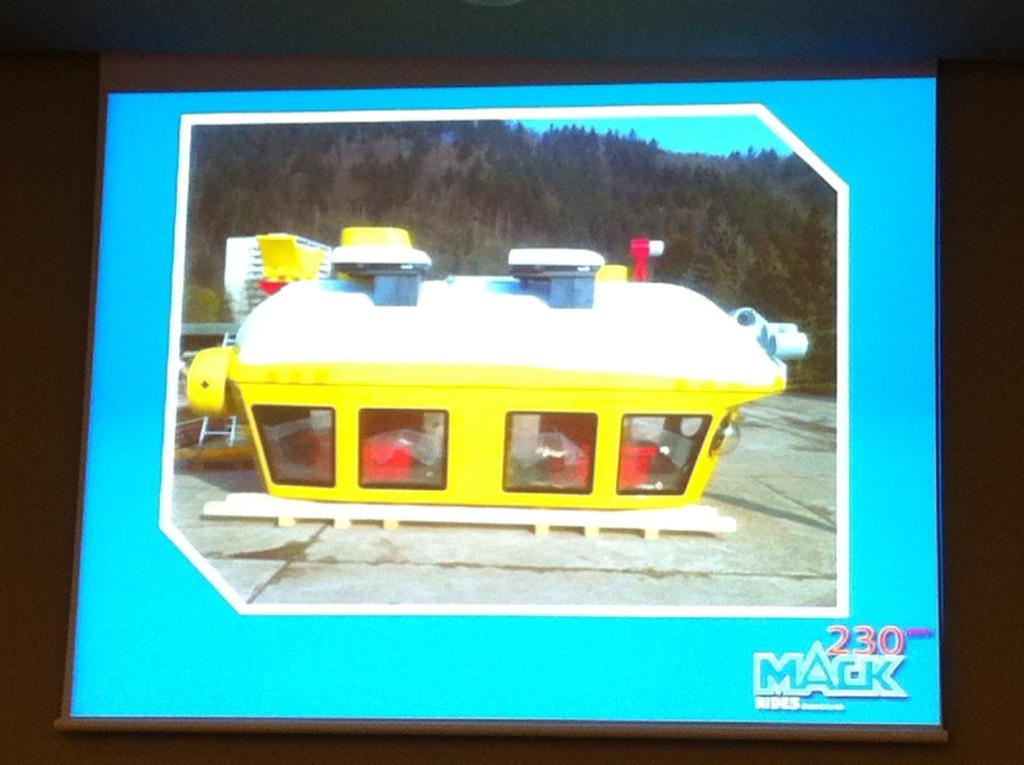 Atracción creada por Mack que consiste en un submarino para observar los peces en Legoland Windsor