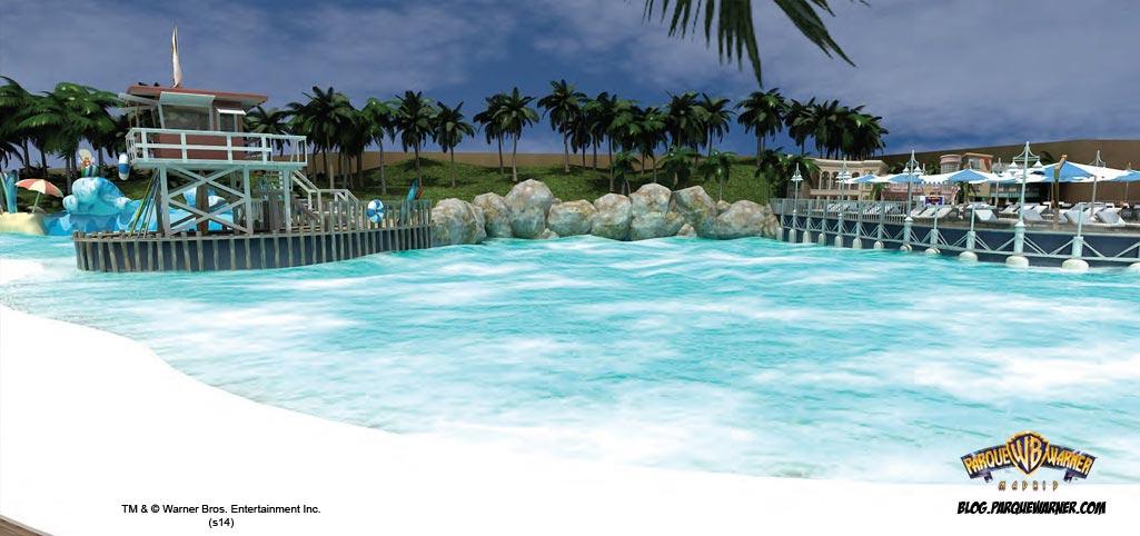 parque warner presenta playa malib la piscina de olas On piscina warner