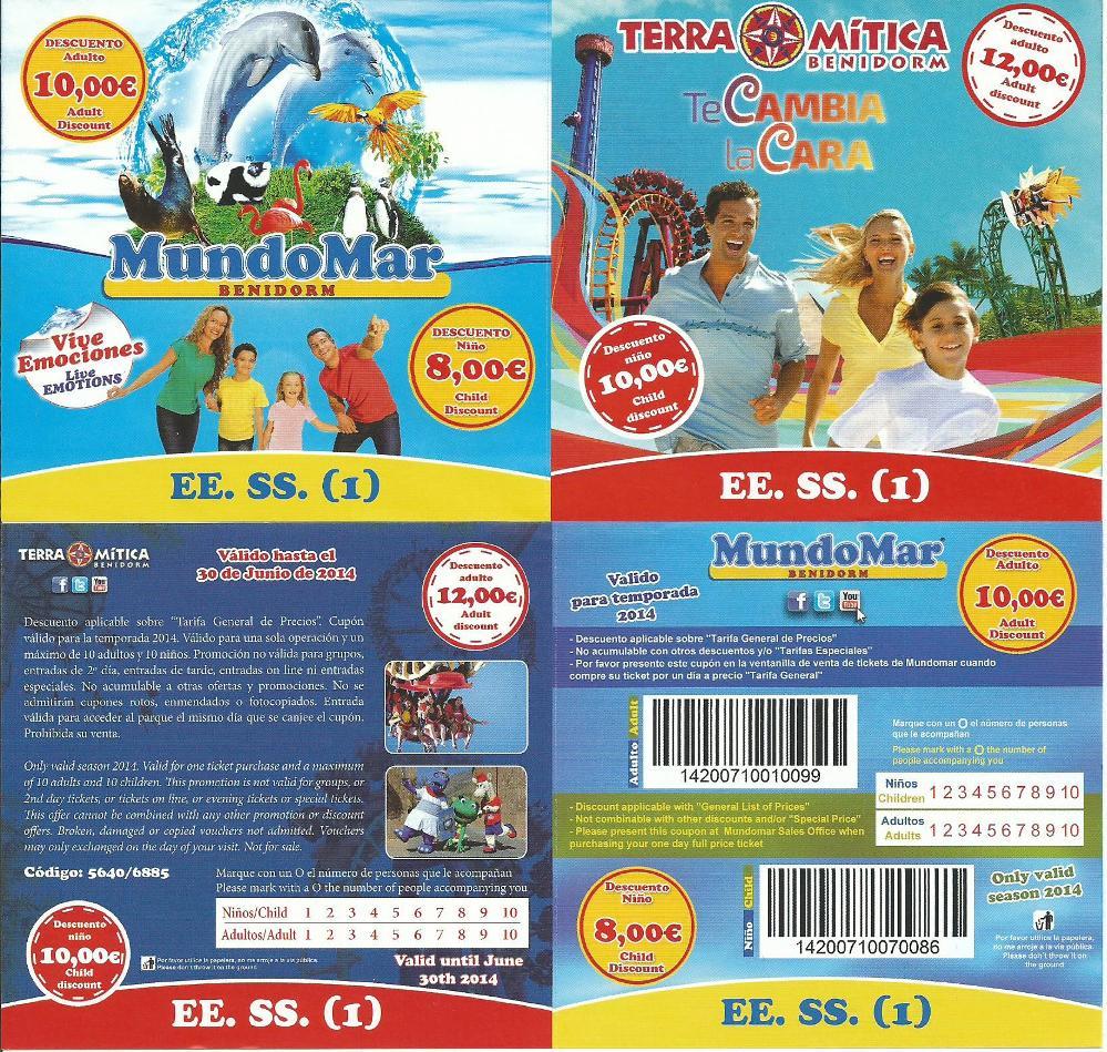 buena reputación fuerte embalaje pulcro Terra Mítica] Descuentos y Promociones – Temporada 2014 – El ...