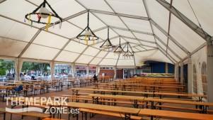 Zona cubierta del restaurante para eventos