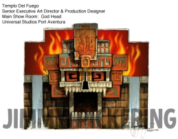 Jimmy Pickering Templo Del Fuego Universal Studios (1)