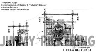 Jimmy Pickering Templo Del Fuego Universal Studios